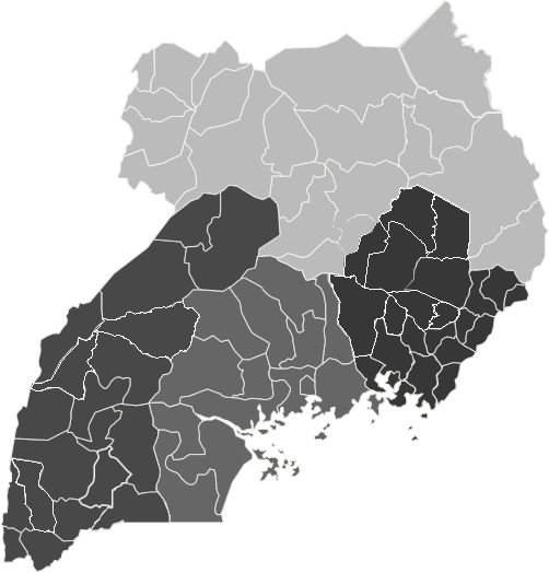 Map of Districts in Uganda