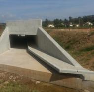 Construction of Box culvert and retaining wall at Jinja Nile Bridge