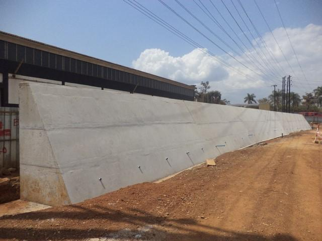 Construction of Box Culvert and retaining wall at the new Jinja
